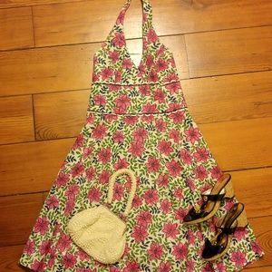 Lilly Pulitzer Halter flower dress sz 8
